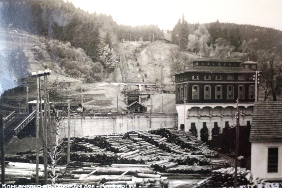 Kohlenbrecher mit Bremsberganlage (Archiv Kohlgrube)