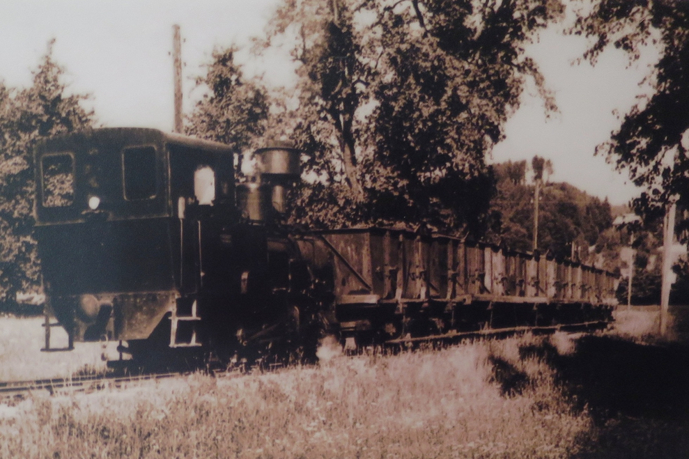 Foto Kohlebahn mit Dampflok von Kohlgrube nach Breitenschutzing (Archiv Scheiben)