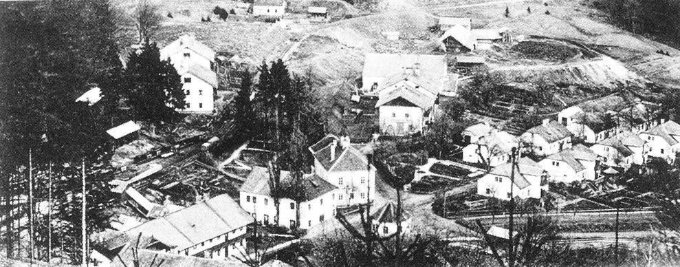 Foto der Ortsansicht um 1900