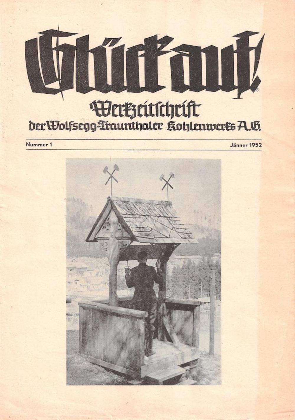 Foto der Werkszeitschrift der WTK, auf der eine Klopfe abgebildet ist.