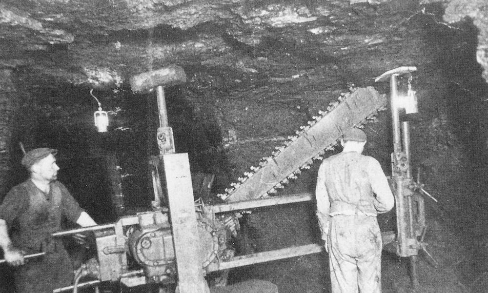 Foto der Korfmann Schrämmmaschine um 1940