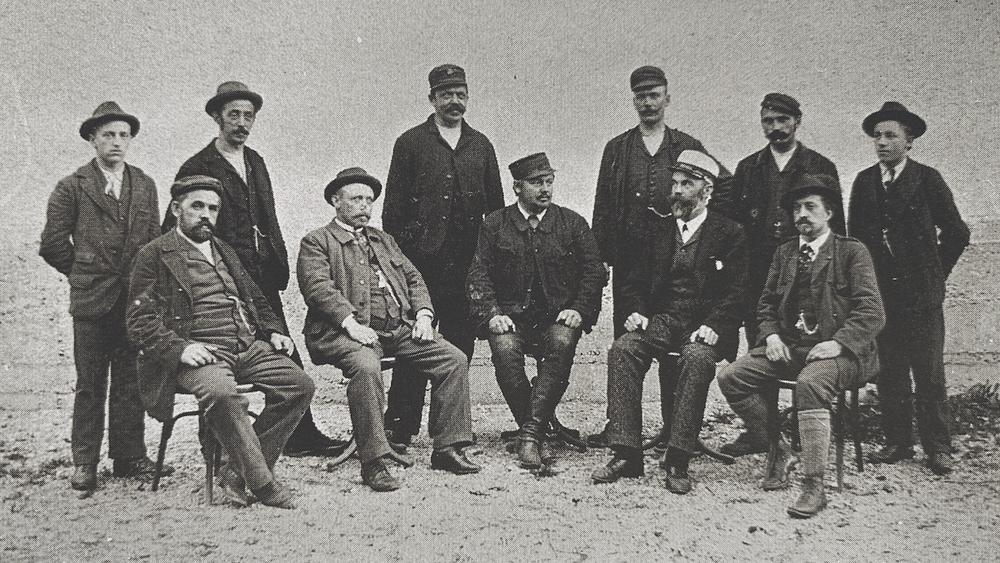 Bild der Betriebsleitung und Essmeister, Aufn. um 1900
