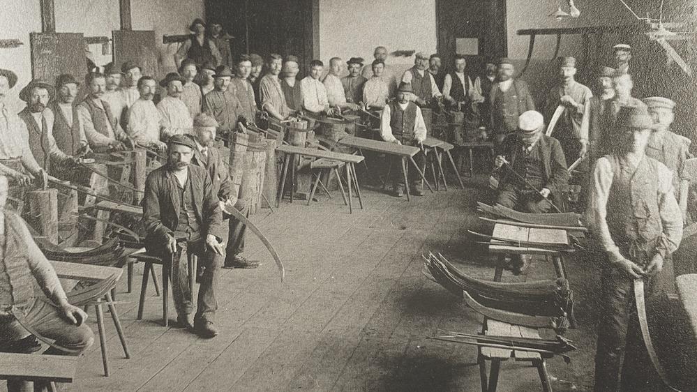Bild einer Richterstube um 1900