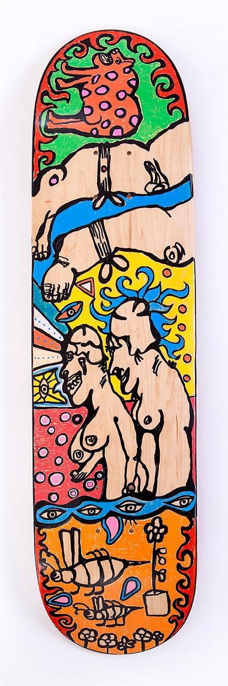 Skateboard des Künstlers Christian Rebhan