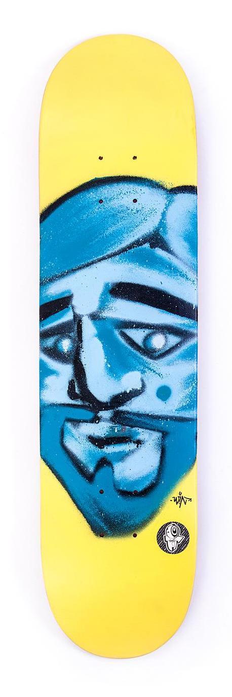 Skateboard des Künstlers Stefan Kirchweger