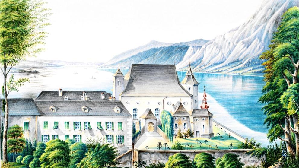 Obiges Aquarell ist von Carl Ritter, aus Stadtarchiv Gmunden Handschrift 129, OÖLAndesarchiv