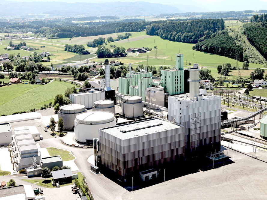 Energie AG Kraftwerkspark Vogelperspektive
