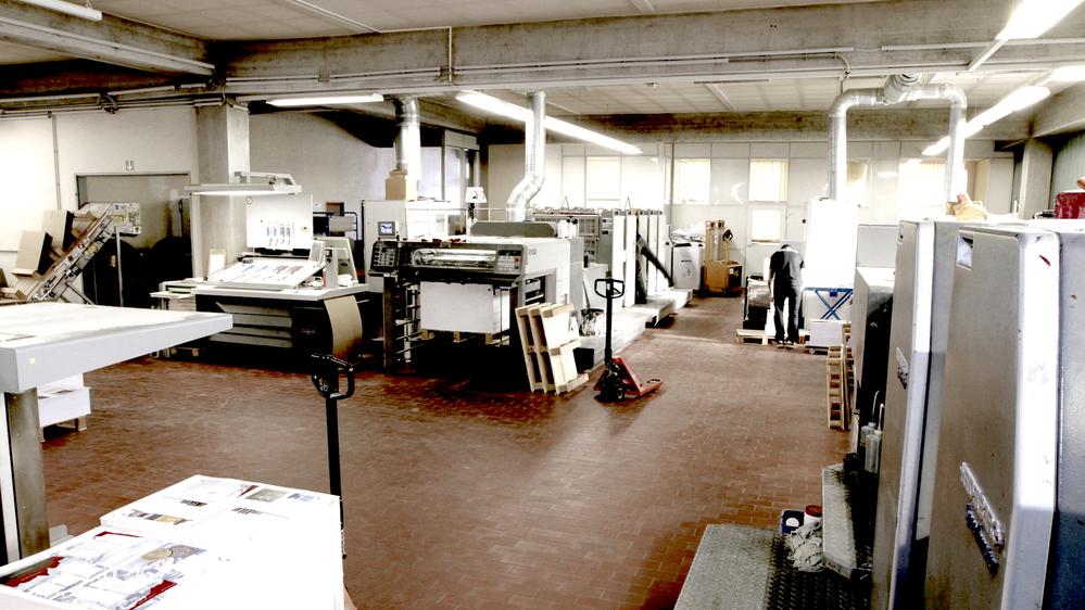 Foto Innenansicht der Druckerei