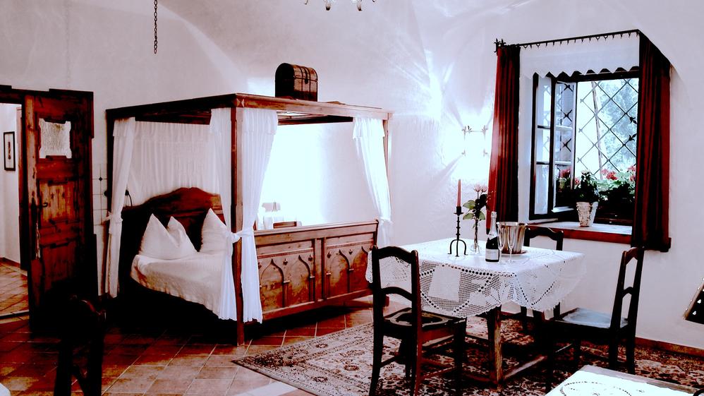 Gästezimmer im Hotel Schloss Thannegg
