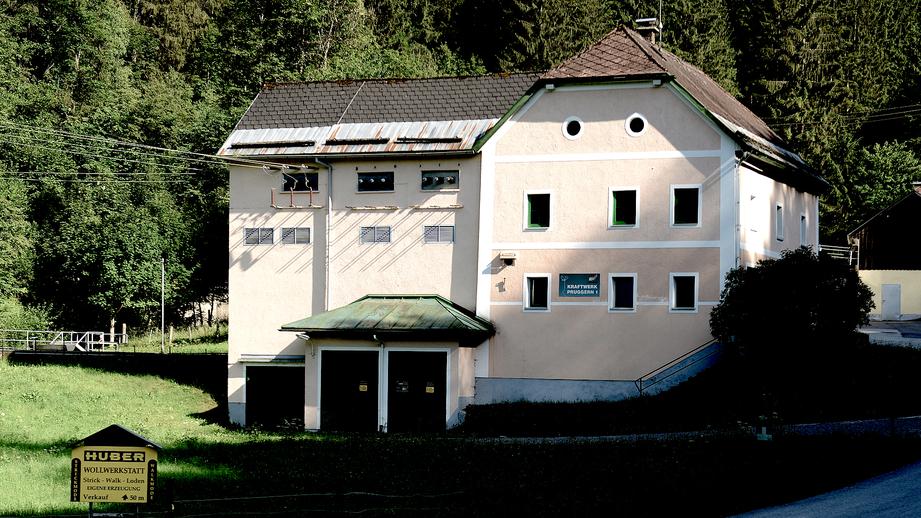 Außenansicht des Kraftwerk Pruggern