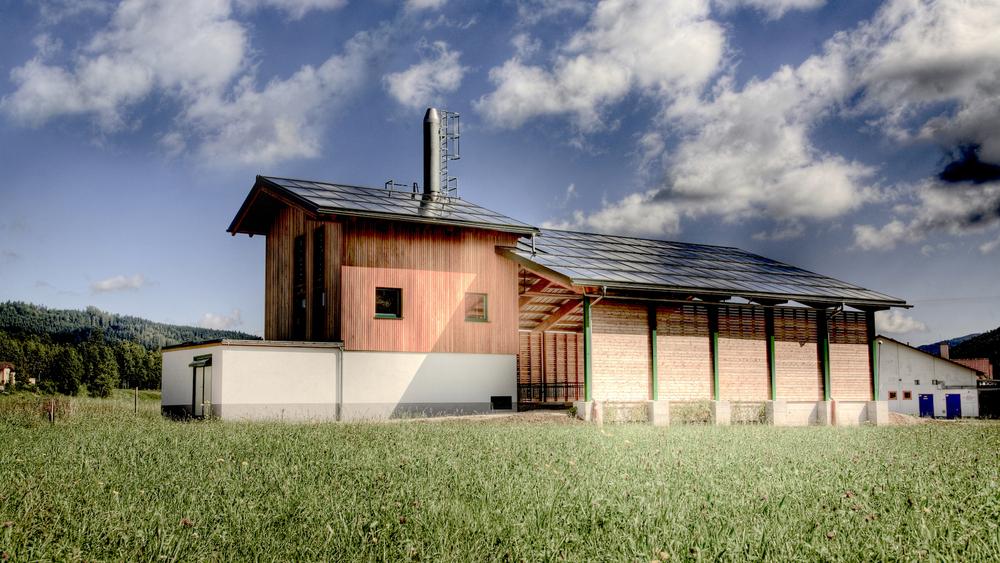 Außenansicht des Biomasseheizwerks