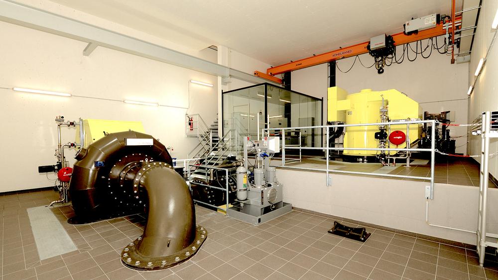 Innenansicht des Kraftwerk Großsölkbach-Mössna