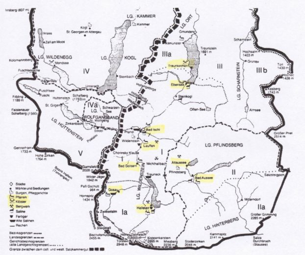 Excerpt from an overview map after A. Hoffmann and Franz C. Lipp (1981)