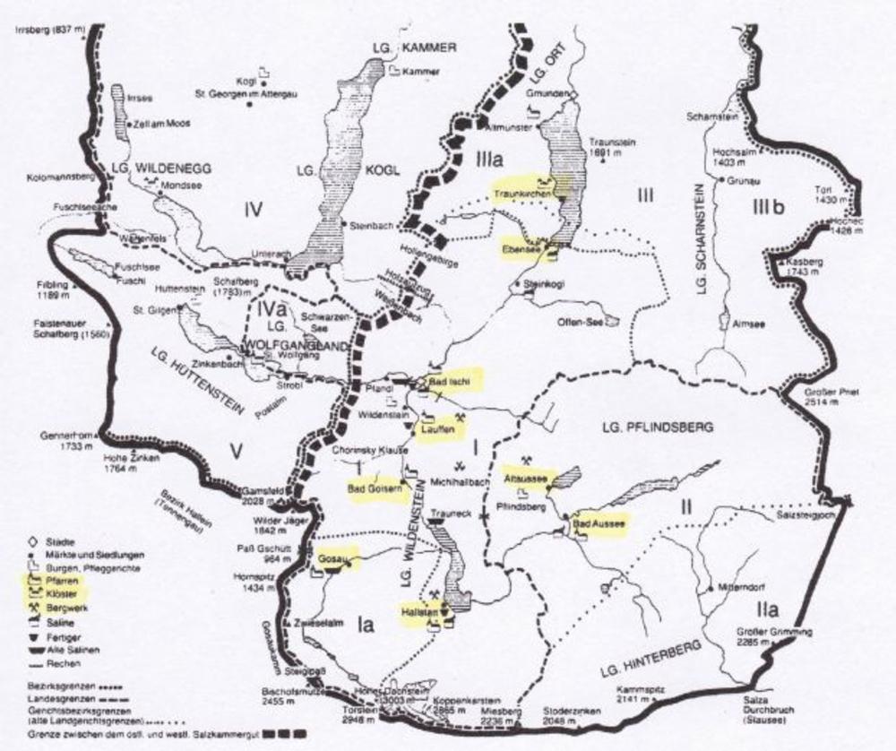 Ausschnitt Übersichtskarte nach A. Hoffmann und Franz C. Lipp (1981)