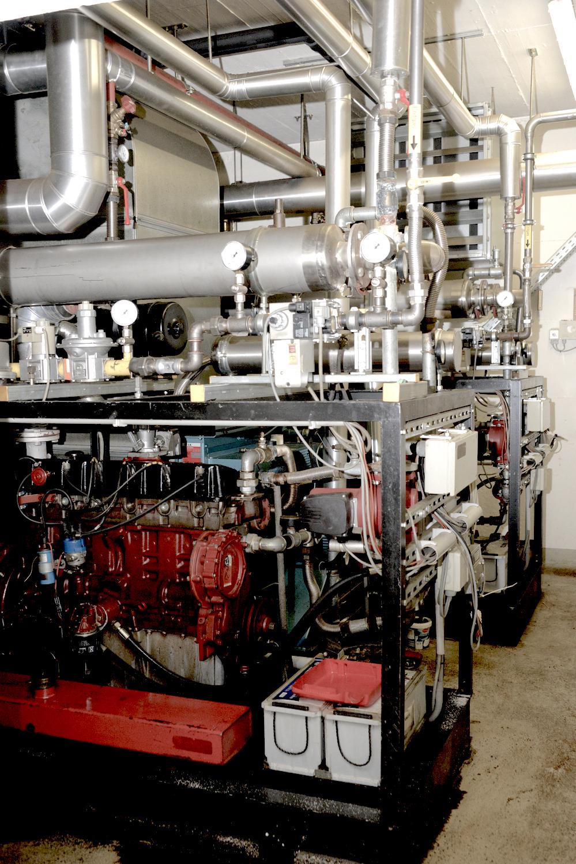 Foto: ... welches dann im BHKW in Strom und Wärme umgewandelt wird.