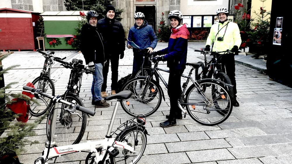 Foto einer Radfahrergruppe
