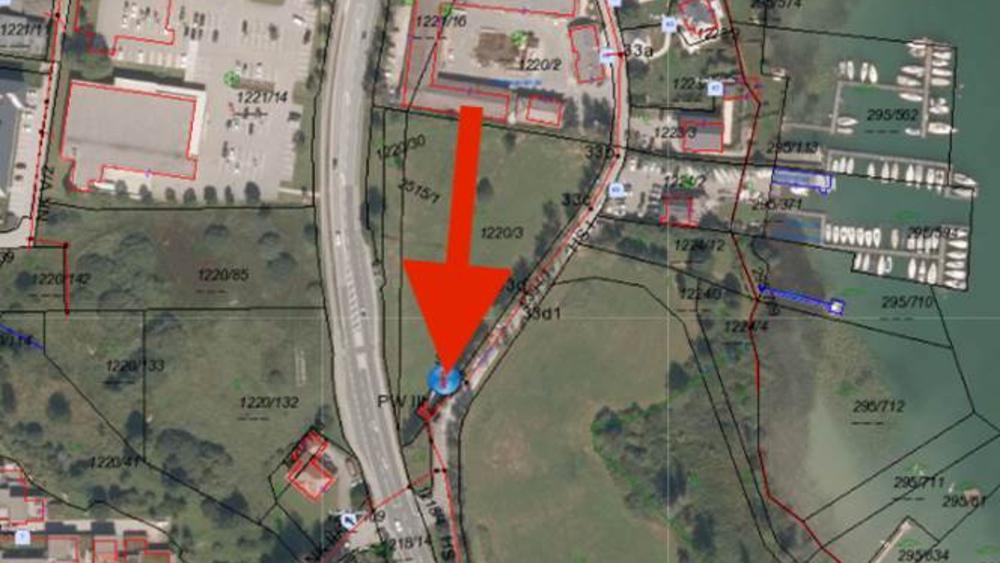 Pumpwerk: Eurospar-Kreisverkehr Richtung Höribachgut neben Freibad Schwarzindien