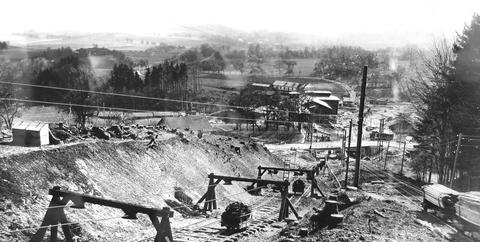 Foto Schrägaufzug und Bremsberganlage (Archiv Kohlgrube)