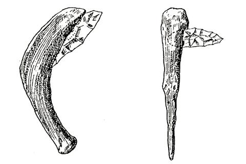 Abbildung von Sicheln aus der jüngeren Steinzeit