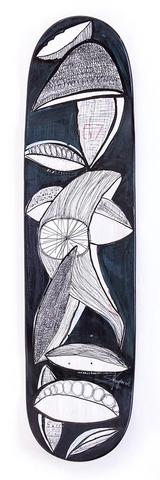 Skateboard der Künstlerin Sylvia Vorwagner