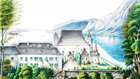 The above watercolor is from Carl Ritter, from city archive Gmunden HS 129, OÖLAndesarchiv