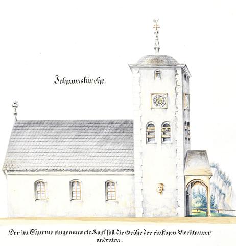 Johannes Church, illustrations Carl Ritter, City Archives Gmunden Manuscript 129, OÖLA