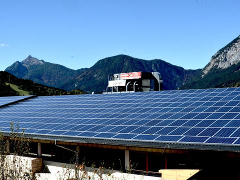 Foto der Alpensonne Photovoltaik-Anlage