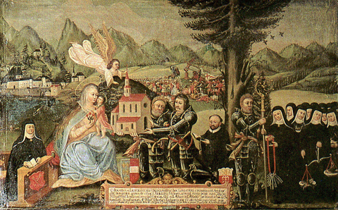 Foundation picture from 1598 owned by the parish of Traunkirchen
