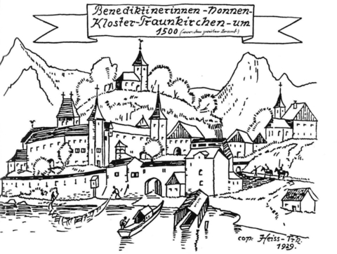 "drawing from ""Traunkirchen, F. Mittendorfer, 1981"