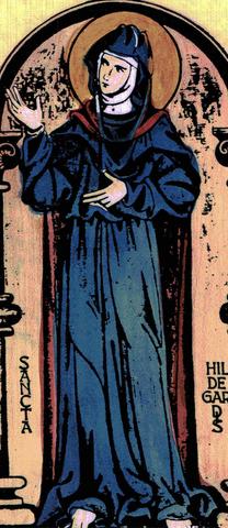 Illustration of the most famous nun Hildegard von Bingen