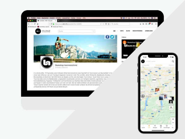 Bild XiBit Profilseite und Kartendarstellung