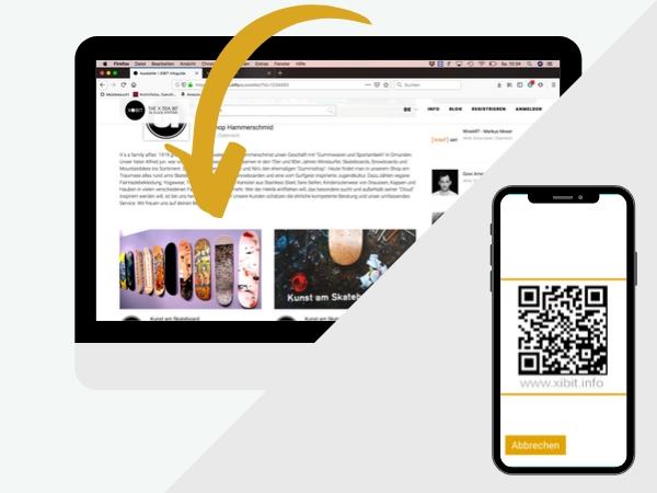 Infoguides werden auf der Profilseite dargestellt.