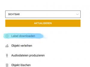 Bild Labeld downloaden Admin-Bereich